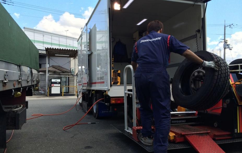 サービスカーによる出張作業